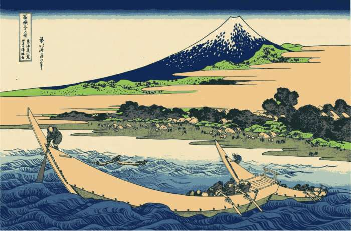 One of 36 Views of Mount Fuji by Hokusai (1760-1849)